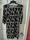 Studio One New York Dress Size S Black And White Cold Shoulder