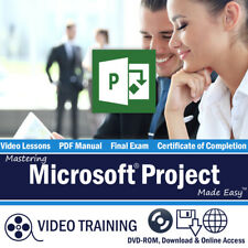 Learn Microsoft PROJECT 2013 2010 Training Tutorial DVD & Digital Course 6 Hours