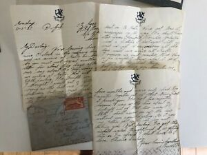 Gibraltar -12/1/37 - cover with 3 page love letter, HMS Hood paper