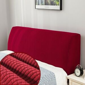 Elastic Bed Headboard Slipcover Solid Color Bed Head Back Dust Cover Protection