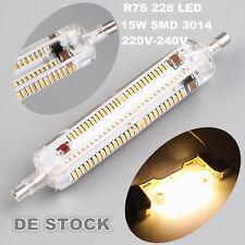 Leuchtmittel R7s 15W 118mm 228 LED warmes Weiß Halogenstab lampe 360° Licht tr