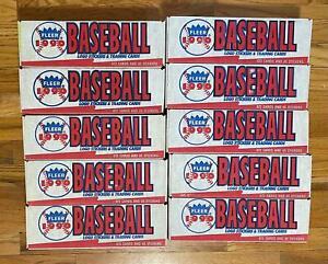 (10) FLEER 1990 Baseball Cards Complete Sets Factory Sealed