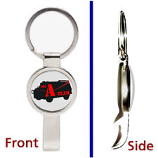 The A-Team Van TV Show Pendant or Keychain silver tone secret bottle opener