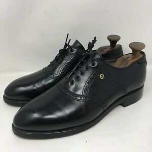 Vintage FootJoy 55715 Classics  Black Saddle Leather Mens Size 10.5D Made In USA