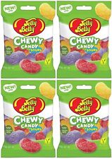 4x Jelly Belly Assorted Sours Flavor Chewy Candy 60g Vegan American Candy
