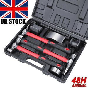 7pcs Auto Body Repair Kit Panel Beating Hammer Dolly Set Bumping Dent Removal UK