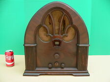 Vintage 1930s Philco Model 90 BABY GRAND Cathedral Tube Radio