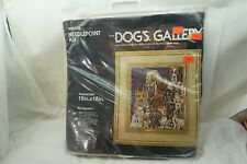 VINTAGE NEEDLEPOINT KIT DOGS GALLERY TRIO 3 1978 15x18 FINISHED SIZE SEALED NEW