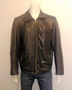 Redskins 100% Soft Leather Harrington style jacket in Black. Size XL Men's