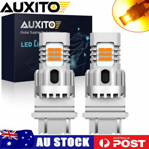 2X AUXITO 3157 3156 T25 24-LED Turn Signal Parking Light Amber Error Free Canbus