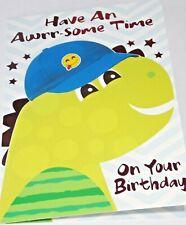 dinosaurio Tema Niños Niñas Cumpleaños Tarjeta tienen un Dino-ácaros tiempo! D7