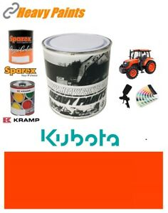 Kubota Tractor Red Orange Paint High Endurance Enamel Paint 1 Litre Tin