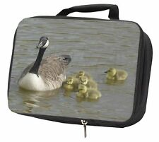 More details for canadian geese and goslings black insulated school lunch box bag, ab-g1lbb