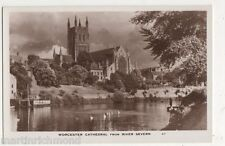 Worcester Cathedral from River Severn RP Postcard, B484