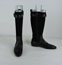 ALBERTO FERMANI Black Suede & Leather Boots - Size 36.5