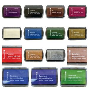 Dovecraft Pigment Ink Pads Stamping In Many Colours - Pink Blue Black Red Blue
