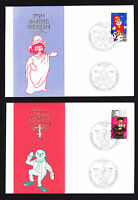 TWO 750th Anniversary of Berlin DDR Puppet stamps on Germany 1987 covers brief