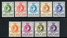 More details for swaziland 1938-54 kgvi definitive set to two shillings & six pence sg28-36 vlmm