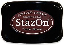 STAZ-ON SOLVENT INKPAD ~TIMBER BROWN CODE SZ-41