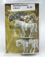 Knuckleduster GBA-3 Gunfighter's Ball Standing Horses (2 Miniatures) Animals NIB