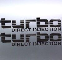 2x Turbo Direct Injection Stickers Toyota Landcruiser 4WD 4x4 Sticker Australian