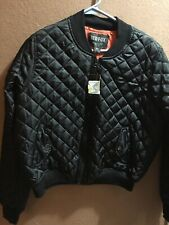 Red Fox Bomber Jacket Black Women New Size XL