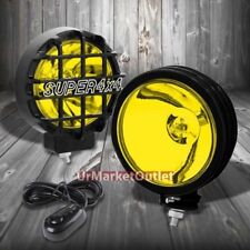"6"" Round Black Body Housing Yellow Fog Light/Super 4x4 Offroad Guard Work Lamp"