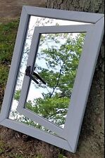 ILLUSION GARDEN MIRROR Blue Marble Designs Natural Cedar Outdoor Ashby GRAY NEW