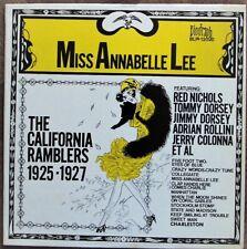 Vinyle 33t / 30cm - The California Ramblers - Biograph USA 1971    D379