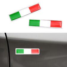 2x Italian Flag Logo Emblem Badge Car Motorcycle Decorative Sticker Universal