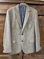 M&S Luxury Grey Moon Yorkshire Tweed Blazer Jacket Size UK 44