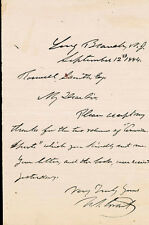 ULYSSES S. GRANT - AUTOGRAPH LETTER SIGNED 09/12/1884