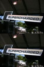 2 LOGO SUPERCHARGED LOOK CARBONE BLACK AUTOCOLLANT RENAULT MEGANE II