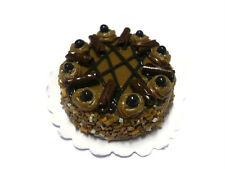 Chocolate Fudge Round Cake Dollhouse Miniatures Food Deco(3 cm.)