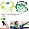 Multi-use Stretch Out Strap Exercise Booklet Gym Fitness Yoga Resistance Trainer
