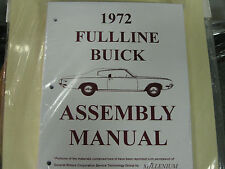 1972 72 BUICK FULLSIZE, RIVIERA & SKYLARK (ALL MODELS) ASSEMBLY MANUAL