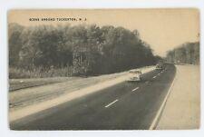 Old Cars on Highway Around TUCKERTON NJ Ocean County New Jersey Shore Postcard