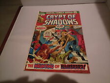 CRYPT OF SHADOWS (1973 Series) #7 Comic Book Marvel Comics Horror Haunting