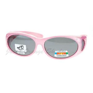 Womens Polarized Fit Over Glasses Sunglasses Oval Rhinestone Frame