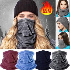 Men Women Neck Warmer Winter Snood Tube Thermal Fleece Motorbike Cycling Unisex