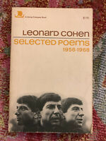 Leonard Cohen Selected Poems 1956-1968/ Eighth Edition - March 1970/ Paperback.