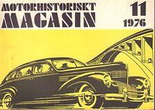 Motorhistoriskt Magasin Swedish Car Magazine 11 1976 Studabaker 032717nonDBE