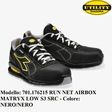 SCARPA ANTINFORTUNISTICA DIADORA RUN NET AIRBOX MATRYX LOW S3 SRC Colore: NERO