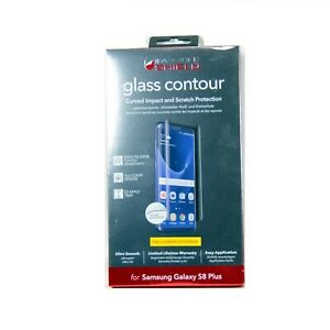 ZAGG SCREEN PROTECTOR FR GALAXY S8+ INVISIBLESHIELD GLASS CONTOUR NEW G8ECGS-F00