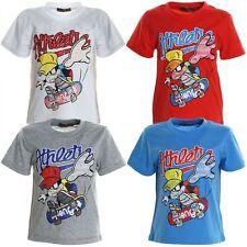 Markenlose Jungen-T-Shirts & -Polos mit Rundhals-Ausschnitt