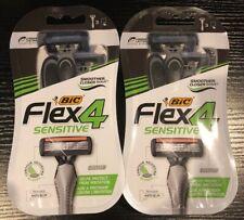 2 Packs BIC Flex 4 Sensitive New 3ct 6 Razors Total