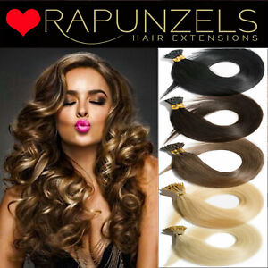 """20"""" micro ring stick i tip hair extensions 1g or 0.5g LUXURY RAPUNZELS REMY HAIR"""