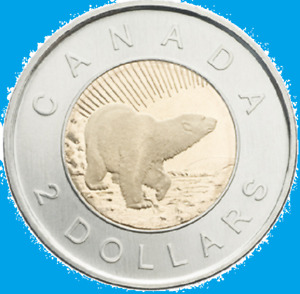2006 Canada Churchill Toonie Two Dollar Coin (Mint Condition UNC. $2 Toon)