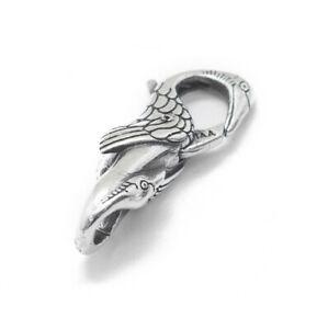 Heaven Crane- DOUBLE LOCK/ Lobster clasp for bracelet- Solid 925 sterling silver