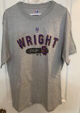 Majestic Mens Ny New York Mets Mlb Wright #5 Baseball Shirt Preowned Euc Large